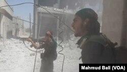 Fafatawa a Birnin Manbij