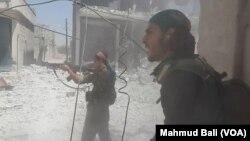 Street fighting in Manbij
