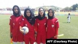 بانوان حکم در میدان فوتبال کابل