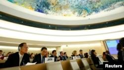 지난 2014년 3월 스위스 제네바에서 열린 유엔 인권이사회에서 북한 인권 문제를 논의하고 있다. (자료사진)