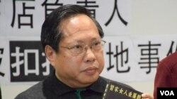 民主黨立法會議員何俊仁(VOA 湯惠芸攝)
