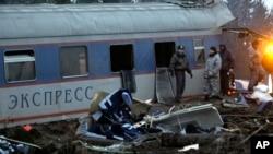 Accident de train à Oglovka, à quelque 400 km au nord-ouest, Russie, 28 novembre 2009.