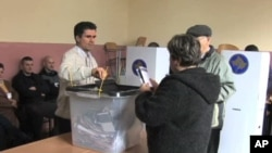 Polling station in Kosovo.