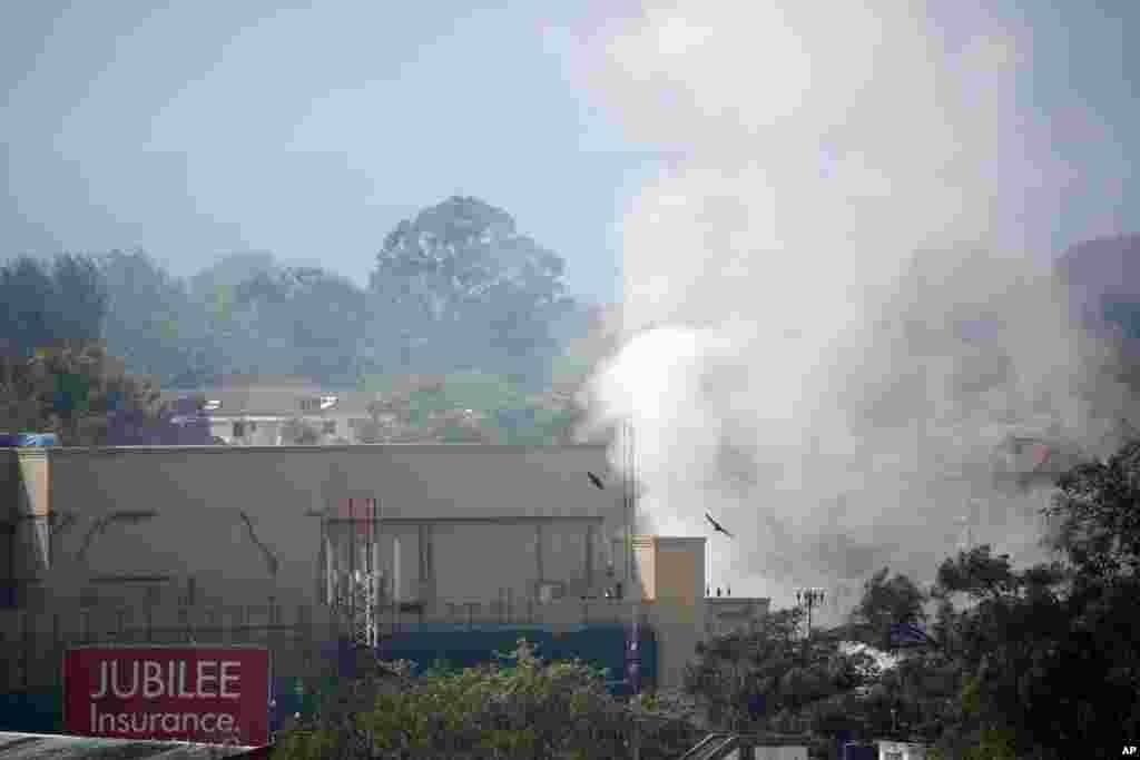 Smoke rises from the Westgate Mall in Nairobi, Sept. 25 2013.