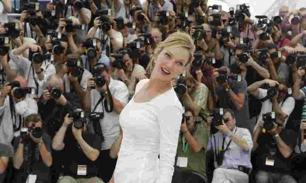 La actriz Uma Thurman parte del jurado en esta versión del Festival de Cannes.