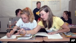 Dalam sistem One World Education, murid menulis langsung topik yang ingin mereka pelajari, dan kemudian dikembangkan secara profesional sebagai kurikulum. Foto: Ilustrasi
