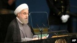 Hasan Rohani, predsednik Irana, govori na 71. zasedanju Generalne skupštine UN