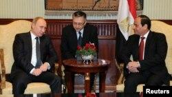 Ruski predsednik Putin sa egipatskim predsednikom al Sisijem, Kairo, 9. februar 2015.