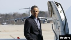 Presiden AS Barack Obama di Joint Base Andrews (Foto: dok. REUTERS/Yuri Gripas)