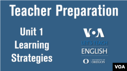Let's Teach English Unit 1: Learning Strategies