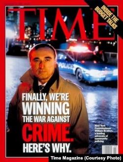 Dönemin New York Emniyet Müdürü William Bratton TIME dergisinin kapağında