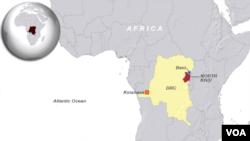 Eneo la Beni, Kivu kaskazini huko Jamhuri ya Kidemokrasi ya Congo-DRC