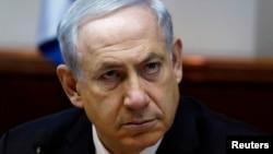 PM Israel Benyamin Netanyahu dalam pertemuan mingguan kabinet Israel di Yerusalem (2/2).