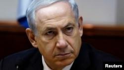 Perdana Menteri Israel Benjamin Netanyahu dalam rapat kabinet di Yerusalem (2/3).