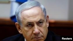 PM Israel Benjamin Netanyahu dalam rapat kabinet mingguan di Yerusalem 2 Februari 2014.