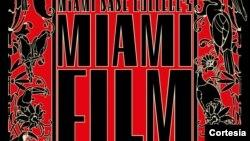 El afiche del Festival de Cine de Miami 2017 es obra del artista argentino Juan Gatti, colaborador de los films de Pedro Almodóvar.