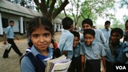 Children outside school. Bangladesh