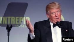 Le président américain Donald Trump donne un discours à New York, le 4 mai 2017.