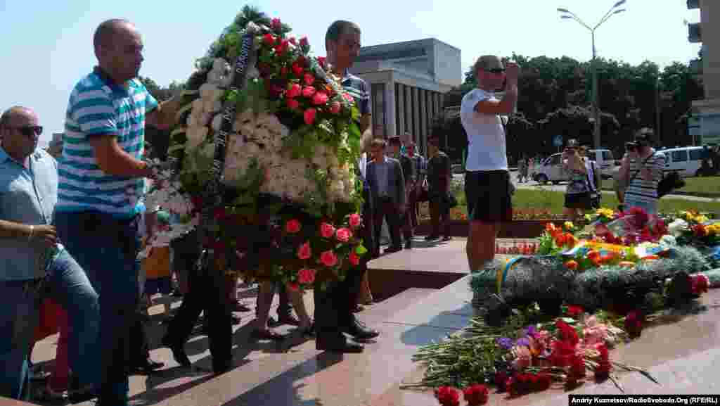 Ukraine -- Airborne forces day in Zhytomyr, 2Aug2014