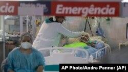 Một bệnh viện đang chữa trị cho bệnh nhân COVID tại Brazil.