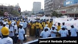 Trabalhadores em Moçambique no dia 1º de Maio