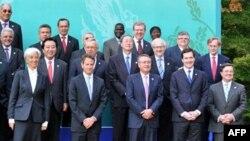 Các nhà lãnh đạo tài chính G20 chụp hình lưu niệm tại Gyeongju, Nam Triều Tiên, ngày 22/10/2010