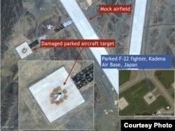 "F-22""猛禽""被炸毁,图右是真实的""猛禽"" ( warontherocks.com)"