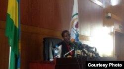 La ministre rwandaise des Affaires étrangères, Louise Mushikiwabo.