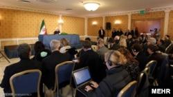 خبرنگاران حاضر در نشست خبری حسن روحانی در رم-ایتالیا