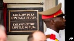 Kedutaan Besar Kuba di Washington. Departemen Luar Negeri AS mengusir dua diplomat Kuba setelah rangkaian insiden di Kedubes AS di Havana yang mengakibatkan diplomat AS mengalami gejala-gejala fisik. (Foto:dok)