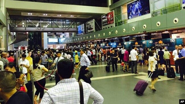 các quầy làm thủ tục ở sân bay từng bị rối loạn vì tin tặc một lần năm 2016