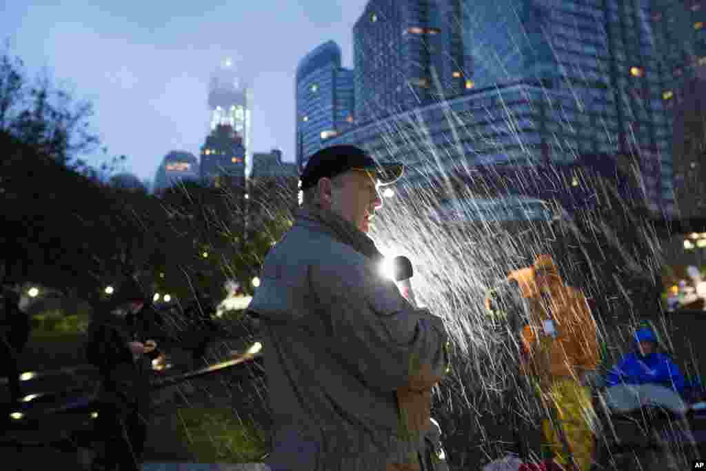 Нью-Йорк. Репортаж под проливным дождем