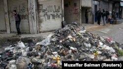 ສະພາບສົກກະປົກ ໃນເມືອງ Aleppo