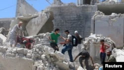 Alep, Syrie. 11 juillet 2016.