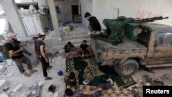 Позиція повстанських сил у районі Алеппо