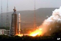 """中国""""长征四号""""运载火箭。(资料图片)"""
