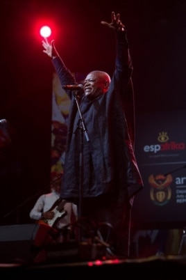 South African musician Hugh Masekela