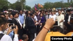 Religious ceremony with the CNRP at Angkor Wat Temple. (Courtesy photo: CNRP)