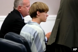 Dylann Roof appears at a court hearing in Charleston, South Carolina, July 16, 2015.