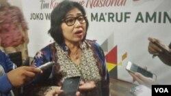 Juru bicara TKN Jokowi-Ma'ruf, Irma Suryani Chaniago (foto: VOA/A. Bhagaskoro).