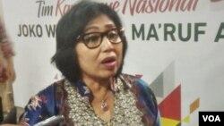 Juru bicara TKN, Irma Suryani Chaniago (foto: VOA/A. Bhagaskoro).