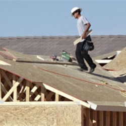 The number of new homes being built dropped in December