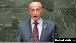 FILE - Agila Saleh Issa at General Assembly 69th session 12th plenary meeting (UN Photo)