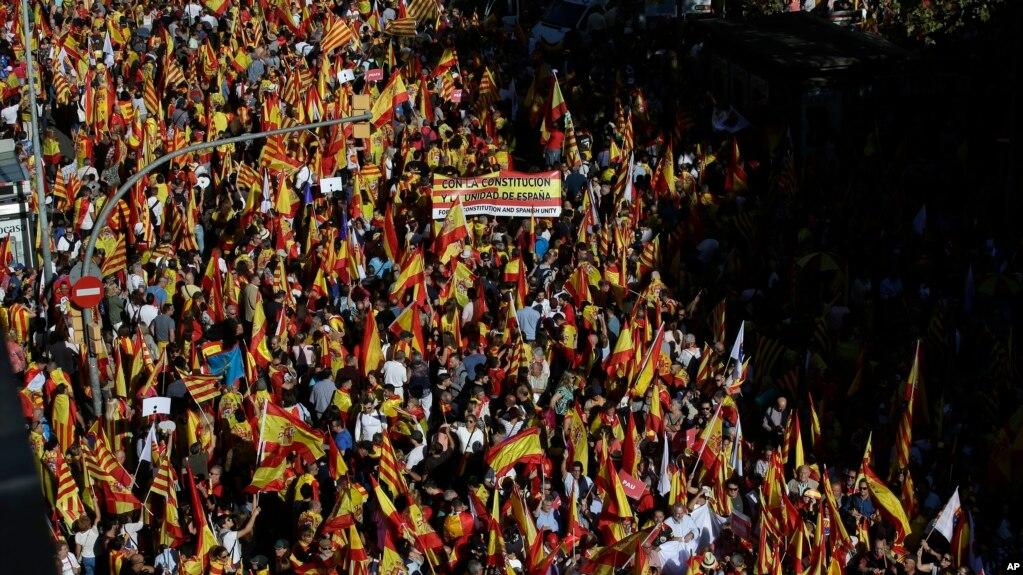 Spanjë: Demonstrata pro-unitetit spanjoll