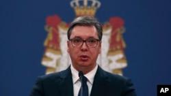 ARHIVA - Predsednik Srbije Aleksandar Vučić (Foto: AP/Darko Vojinović)
