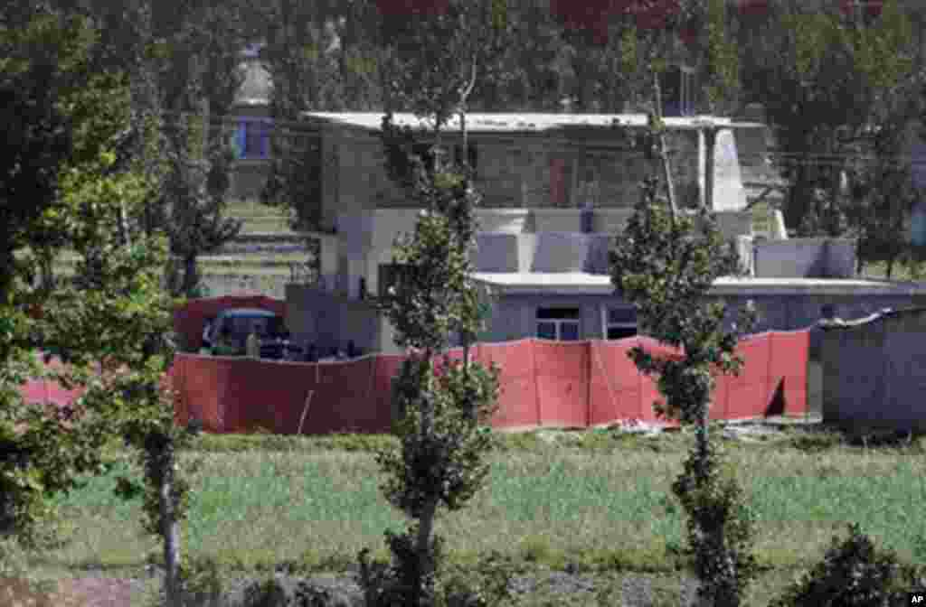 빈 라덴이 은둔해있던 장소로 밝혀진 파키스탄의 동북부 아보타바드 시의 저택 (2011년)