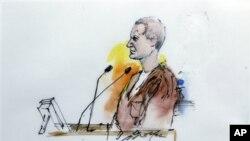 洛夫奈爾在法庭上畫家的素描圖片