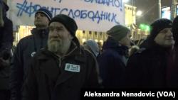 Jedan od najstarijih učesnika protesta u Beogradu