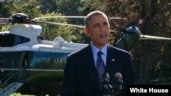 Американскиот претседател Барак Обама во денешното обраќање од Белата куќа