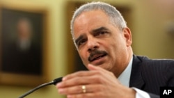 Eric Holder habló en una conferencia sobre derechos civiles en la Universidad de Georgetown.